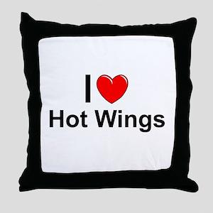 Hot Wings Throw Pillow