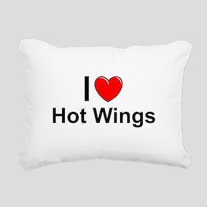 Hot Wings Rectangular Canvas Pillow