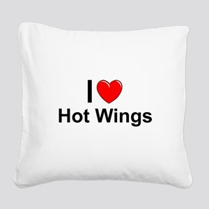Hot Wings Square Canvas Pillow