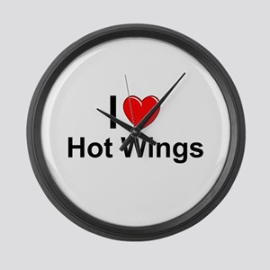 Hot Wings Large Wall Clock