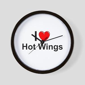 Hot Wings Wall Clock