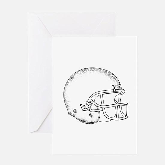 American Football Helmet Black and White Drawing G
