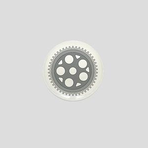 Vintage Single Ring Crank Retro Mini Button