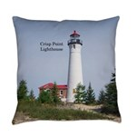 Crisp Point Lighthouse Everyday Pillow