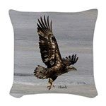 Hawk Woven Throw Pillow