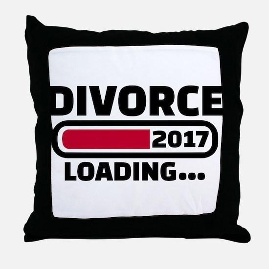 Divorce 2017 loading Throw Pillow