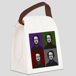 Edgar Allan Poe Warhol Canvas Lunch Bag