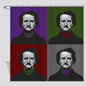 Edgar Allan Poe Warhol Shower Curtain