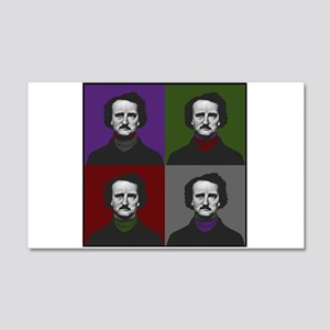 Edgar Allan Poe Warhol 20x12 Wall Decal