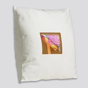 Breast cancer survivor. Lord c Burlap Throw Pillow