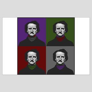 Edgar Allan Poe Warhol Large Poster