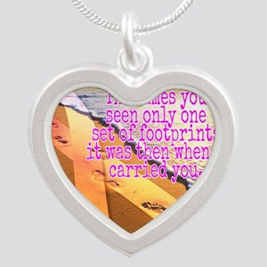 Breast cancer survivor. Lord carried you Necklaces