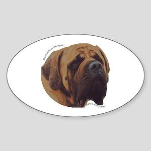 Mastiff Oval Sticker
