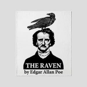 Poe's Raven Throw Blanket