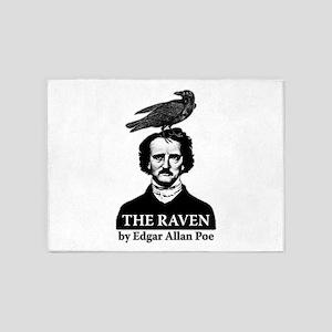 Poe's Raven 5'x7'Area Rug