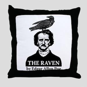 Poe's Raven Throw Pillow