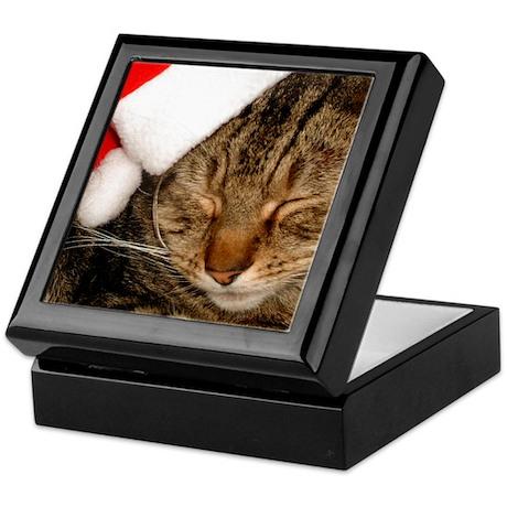 Christmas Kitty Keepsake Keepsake Box
