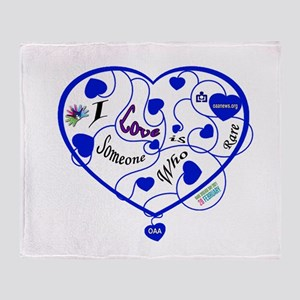 OAA Love Someone Who is Rare Blue Throw Blanket