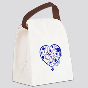 OAA Love Someone Who is Rare Blue Canvas Lunch Bag