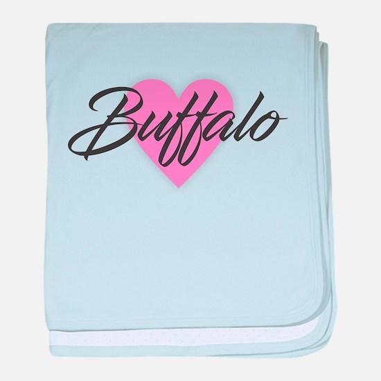 I Heart Buffalo baby blanket