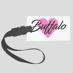 I Heart Buffalo Large Luggage Tag