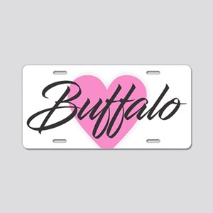I Heart Buffalo Aluminum License Plate