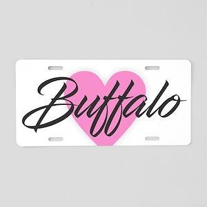 I Heart Buffalo Aluminum License Plate