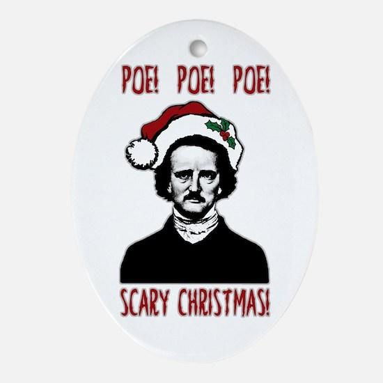 Poe! Poe! Poe! Ornament (Oval)