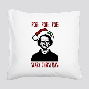 Poe! Poe! Poe! Square Canvas Pillow
