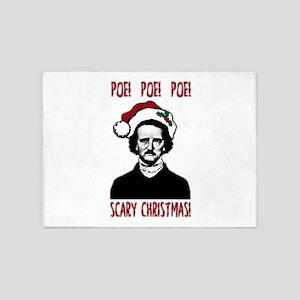 Poe! Poe! Poe! 5'x7'Area Rug