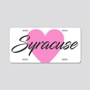 I Heart Syracuse Aluminum License Plate