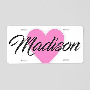 I Heart Madison Aluminum License Plate