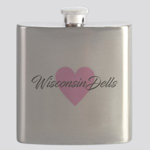 I Heart Wisconsin Dells Flask