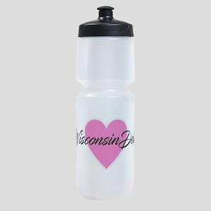 I Heart Wisconsin Dells Sports Bottle