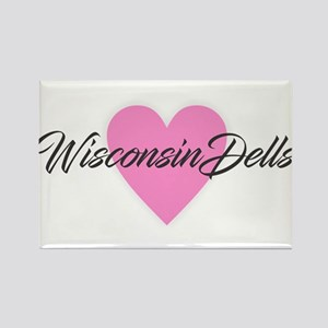 I Heart Wisconsin Dells Magnets
