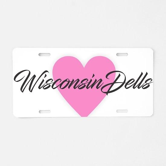 I Heart Wisconsin Dells Aluminum License Plate
