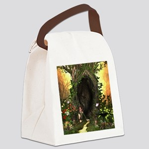 Cute, funny fairy in the wonderland Canvas Lunch B