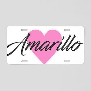 I Heart Amarillo Aluminum License Plate