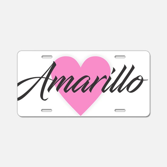 I Heart Amarillo Aluminum License Plate
