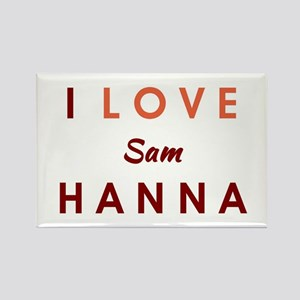 I LOVE HANNA Rectangle Magnet