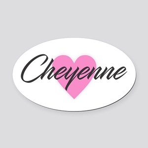 I Heart Cheyenne Oval Car Magnet