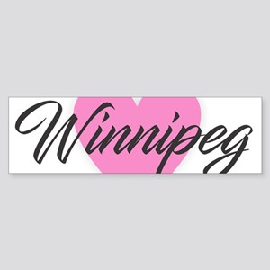 I Heart Winnipeg Bumper Sticker