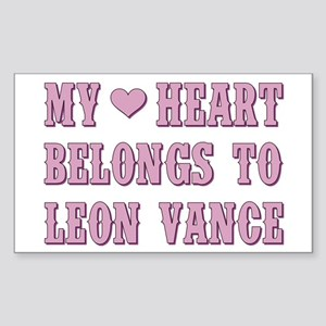 MY HEART BELONGS... Sticker (Rectangle)