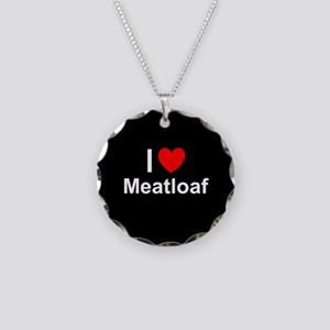 Meatloaf Necklace Circle Charm