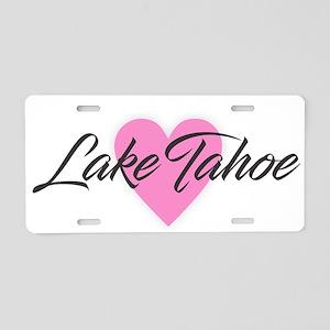 I Heart Lake Tahoe Aluminum License Plate