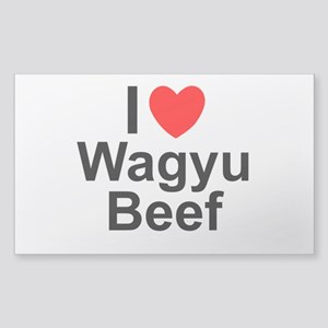 Wagyu Beef Sticker (Rectangle)