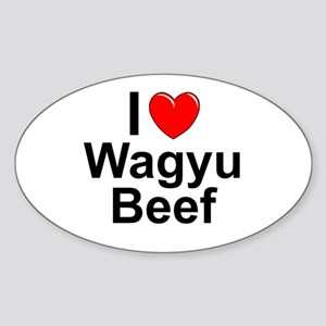 Wagyu Beef Sticker (Oval)