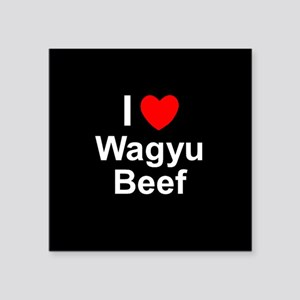 "Wagyu Beef Square Sticker 3"" x 3"""