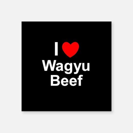 """Wagyu Beef Square Sticker 3"""" x 3"""""""