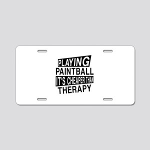Awesome Paint Ball Player D Aluminum License Plate